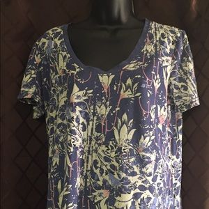 Tory Burch Floral Top NWOT